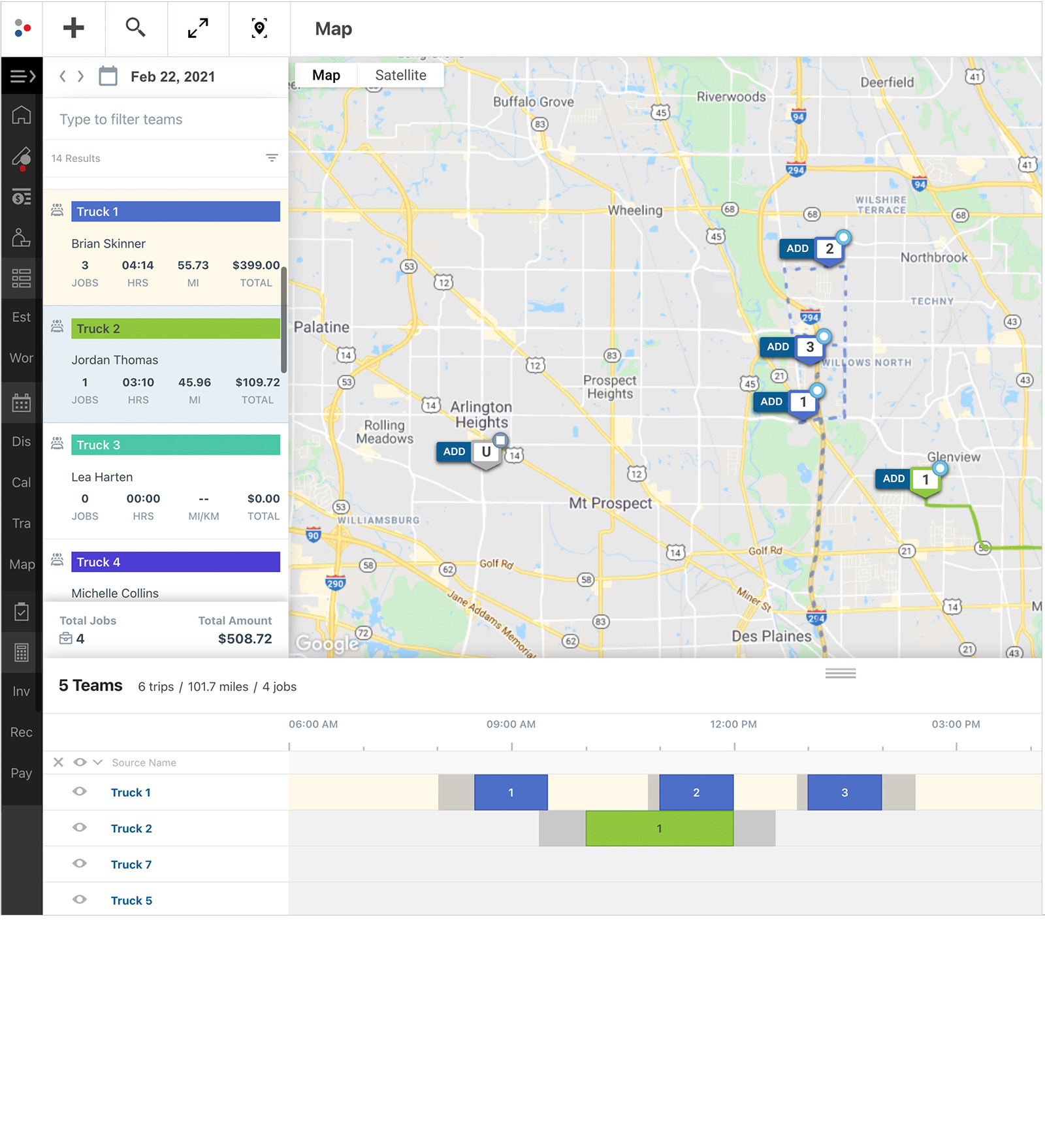 Map-based Scheduling